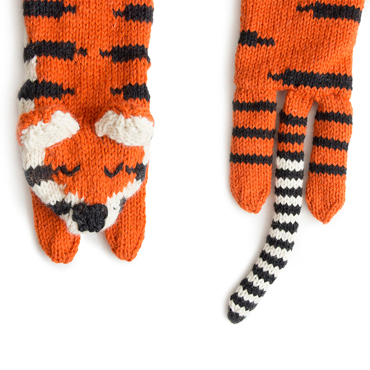 Tiger Scarf Knitting Kit