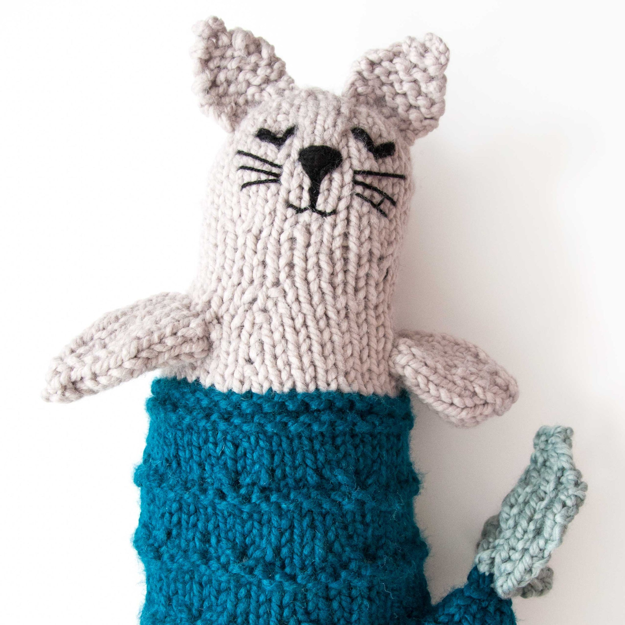 Mermaid Cat Knitting Kit - Mer-cat or Pur-maid (4634923040900)