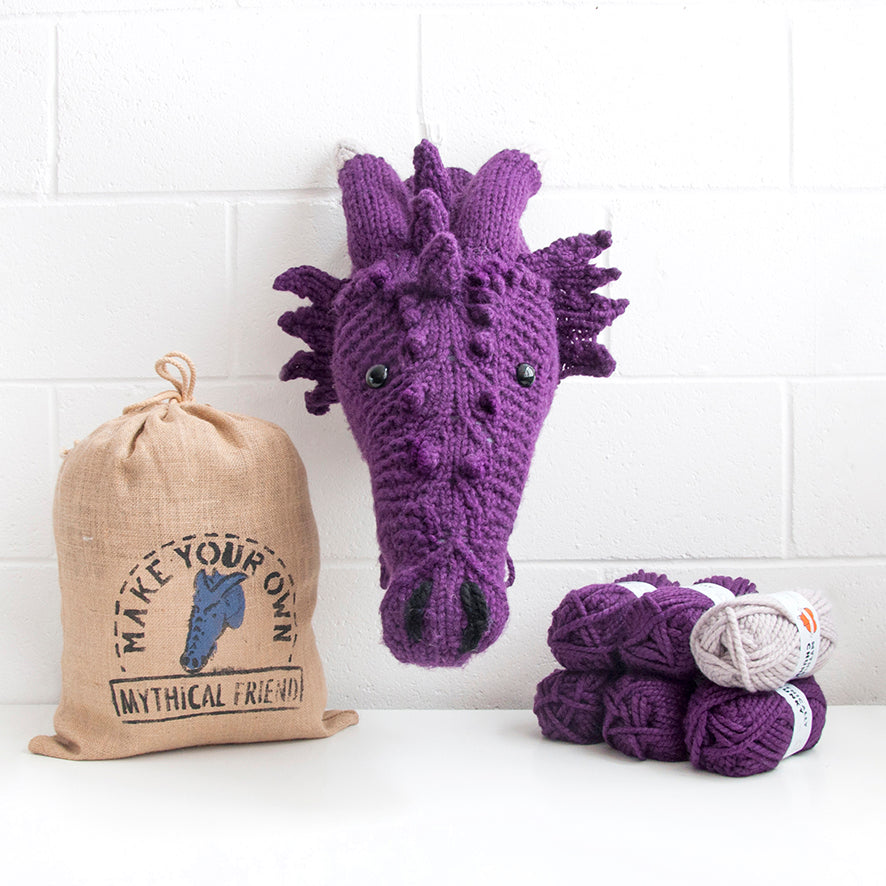 Giant Dragon Head Knitting Kit