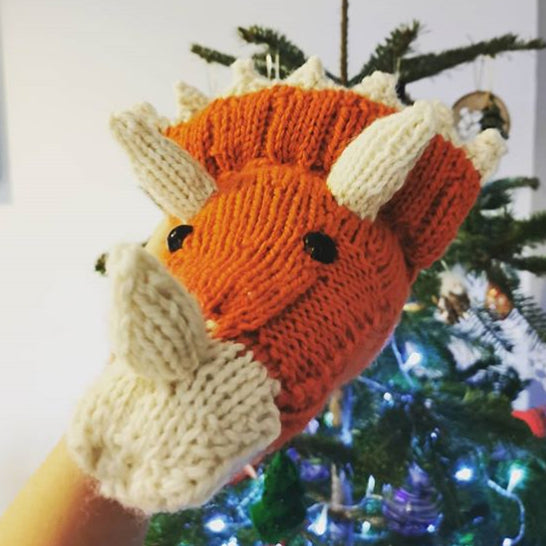 Mini Triceratops Head Knitting Kit (4572004221060)