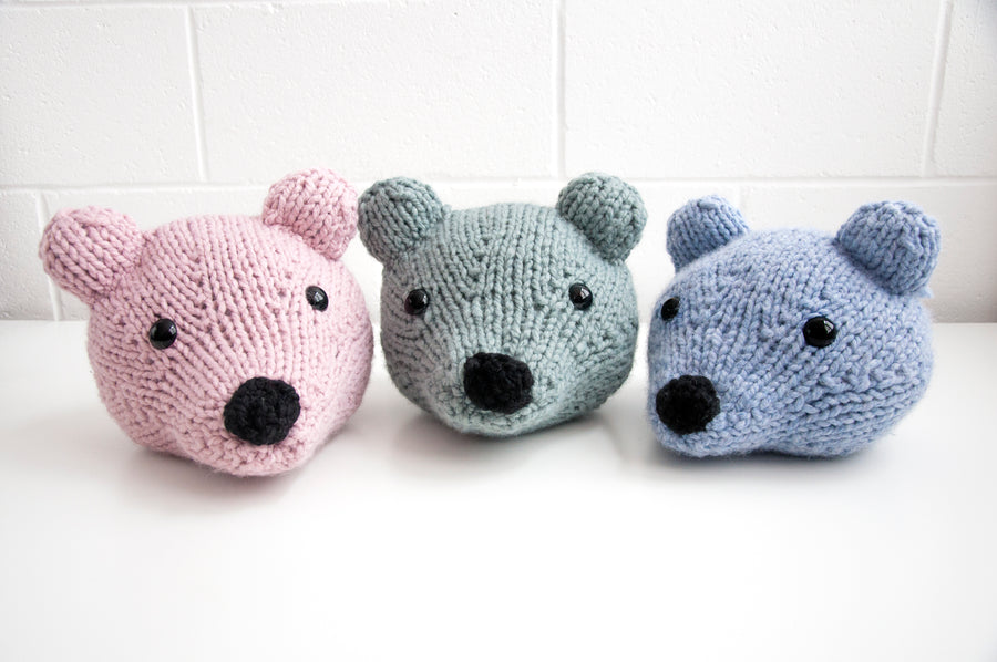 Baby Bear Head Knitting Kit (4641807302788)