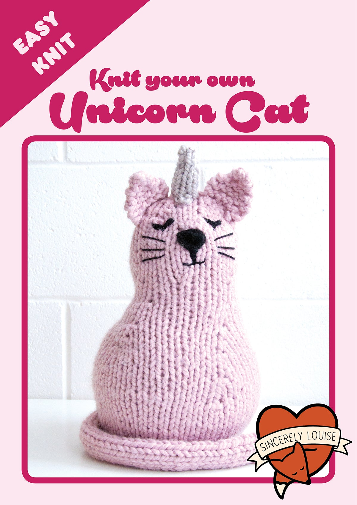 Unicorn Cat Knitting Kit - Uni-cat