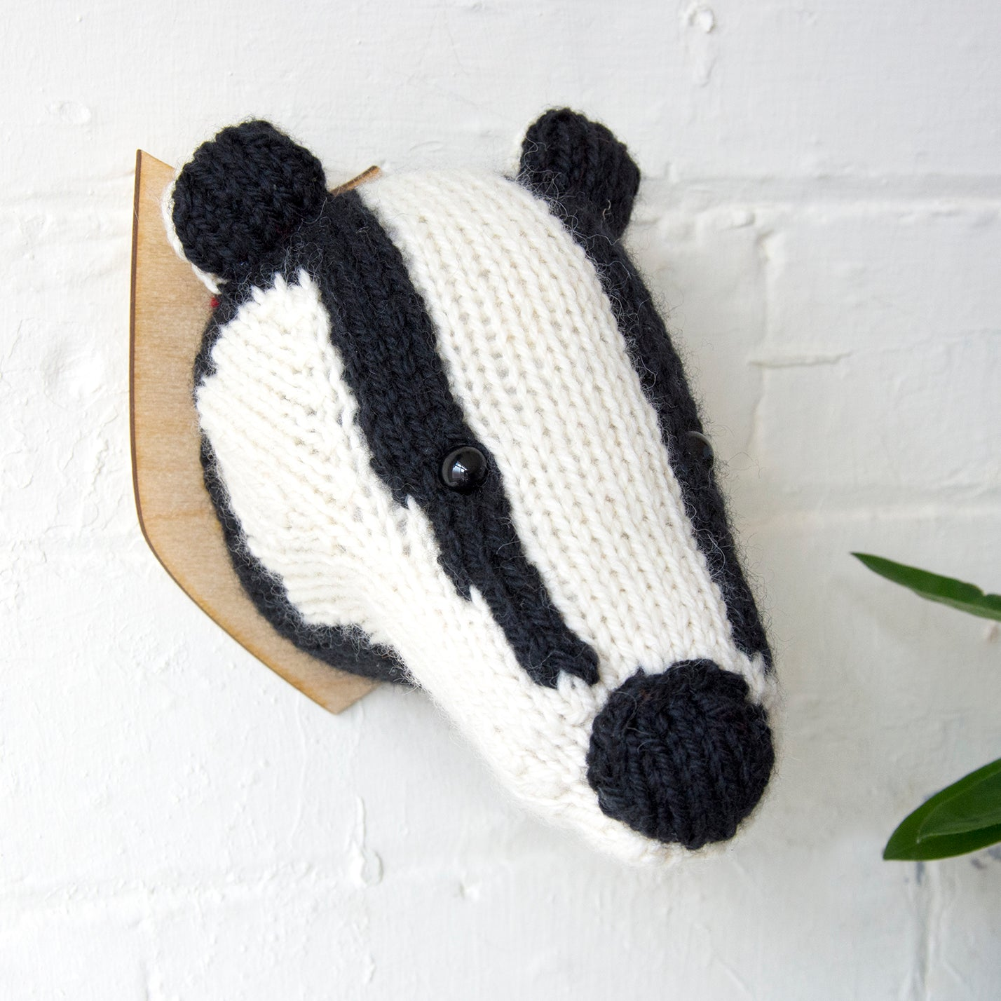 Mini Badger Head Knitting Kit (4572067627140)