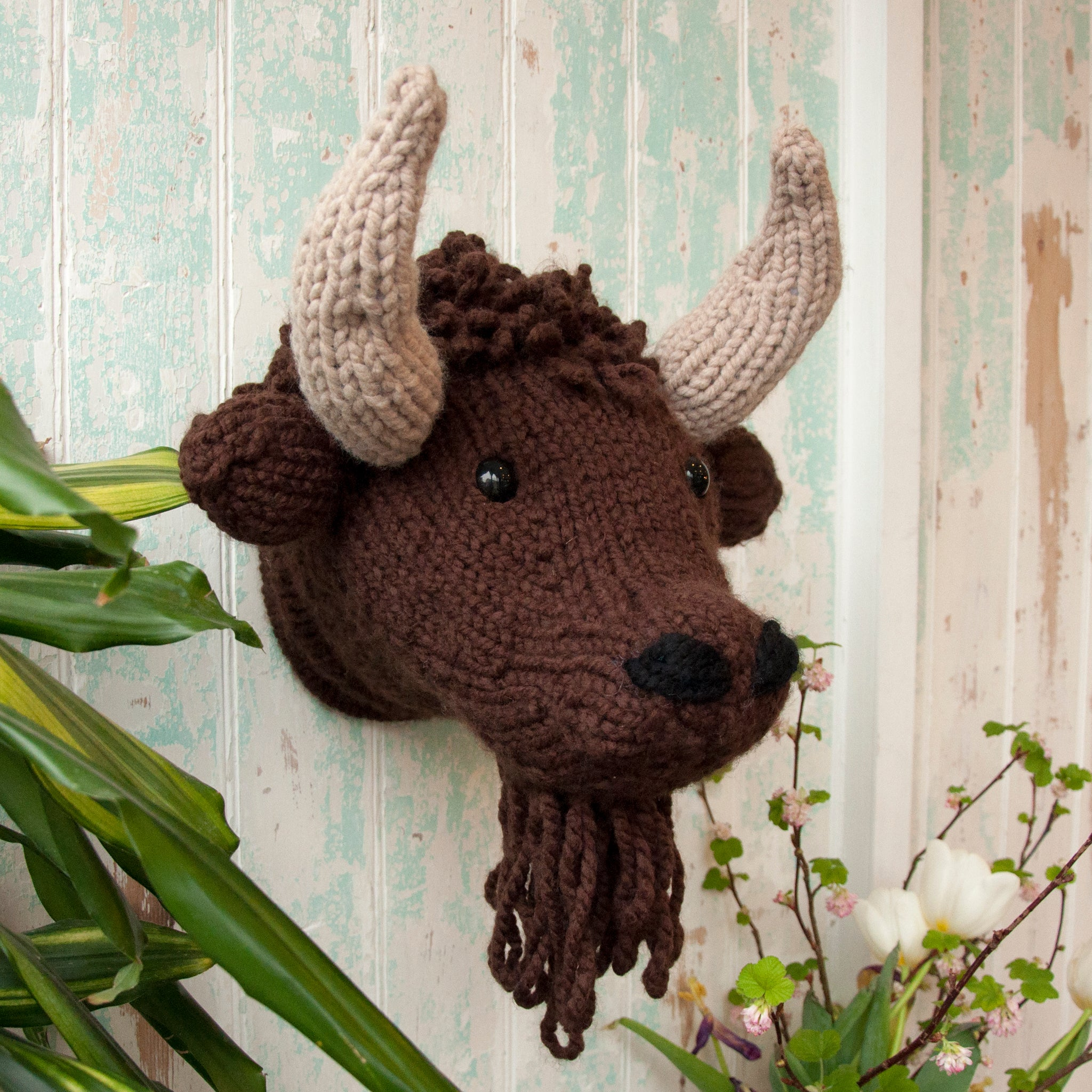 Bison Head Knitting Kit