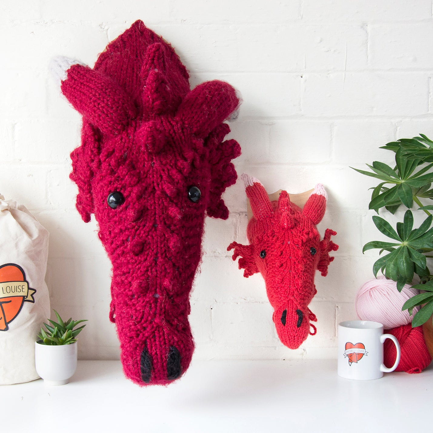 Mini Dragon Head Knitting Kit (4578839363716)
