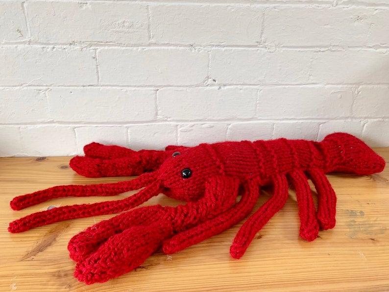 Giant Lobster Knitting Kit (4688560291972)