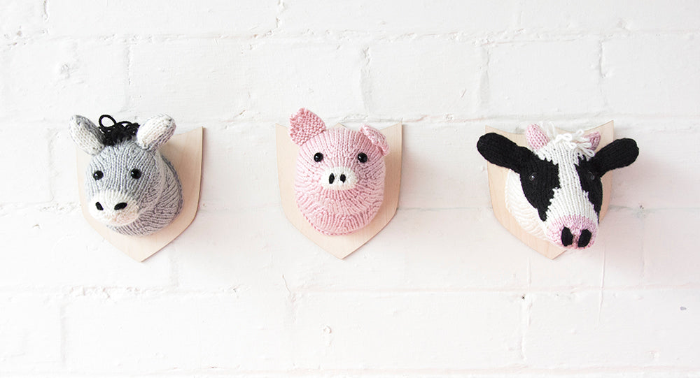 Farm Friends - Mini Animal Heads Knitting Kit (5848007999645)