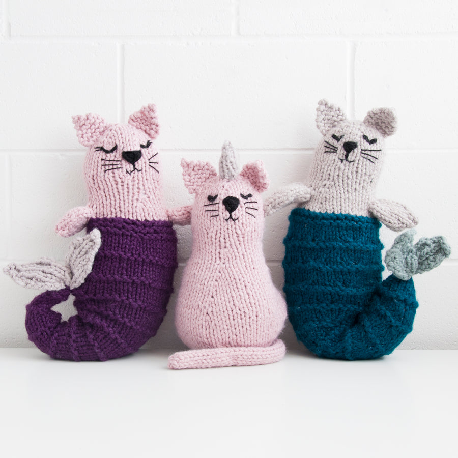 Unicorn Cat Knitting Kit - Uni-cat (4640537378948)