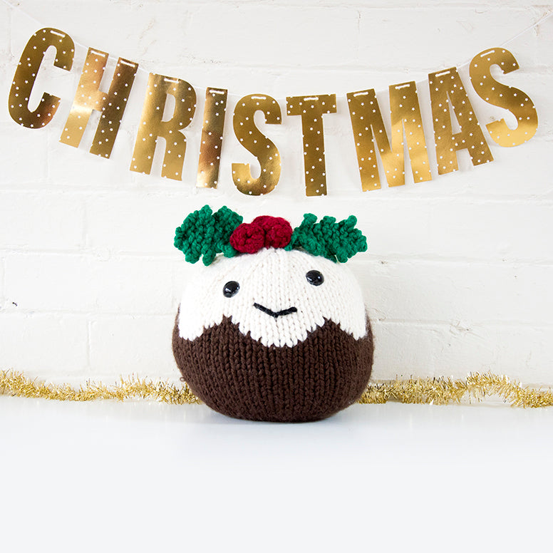 Giant Christmas Pudding Knitting Kit (4641562460292)