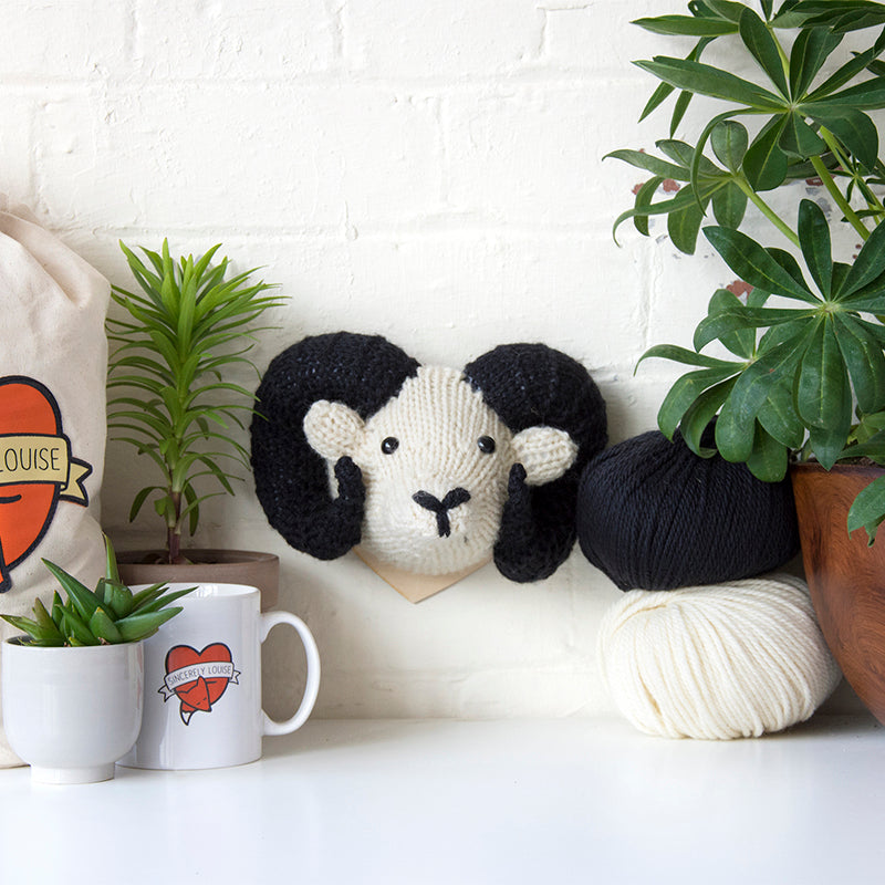 Mini Ram Head Knitting Kit