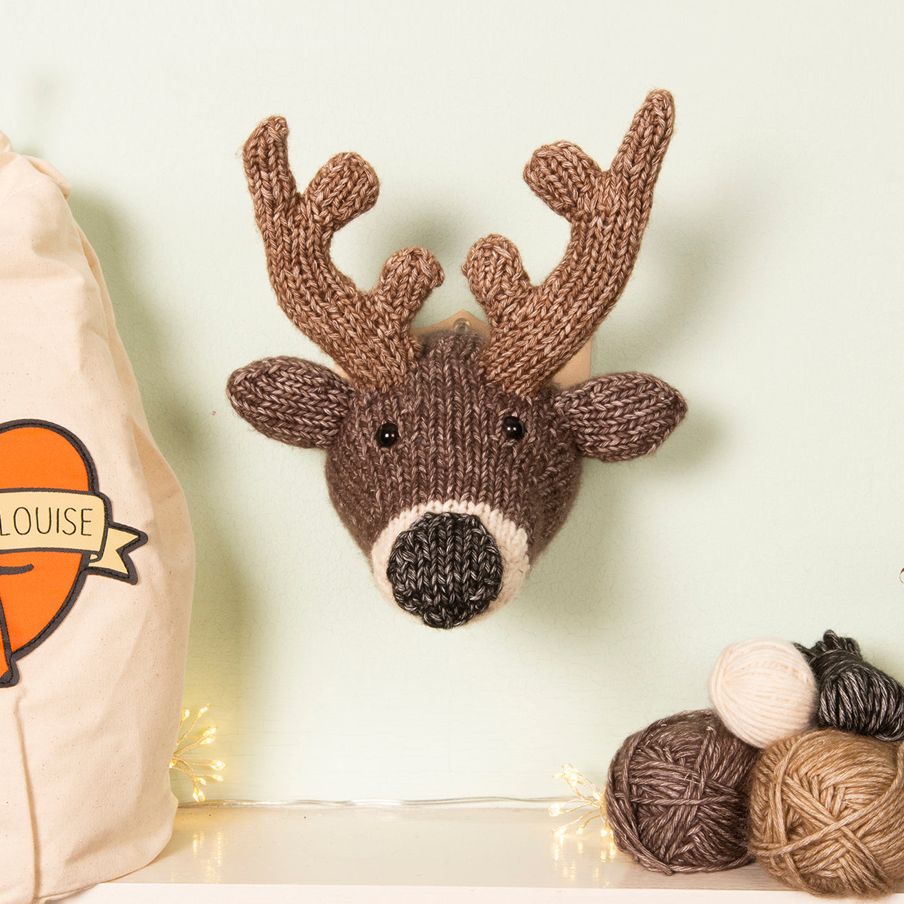 Mini Deer Head Knitting Kit (5889303380125)