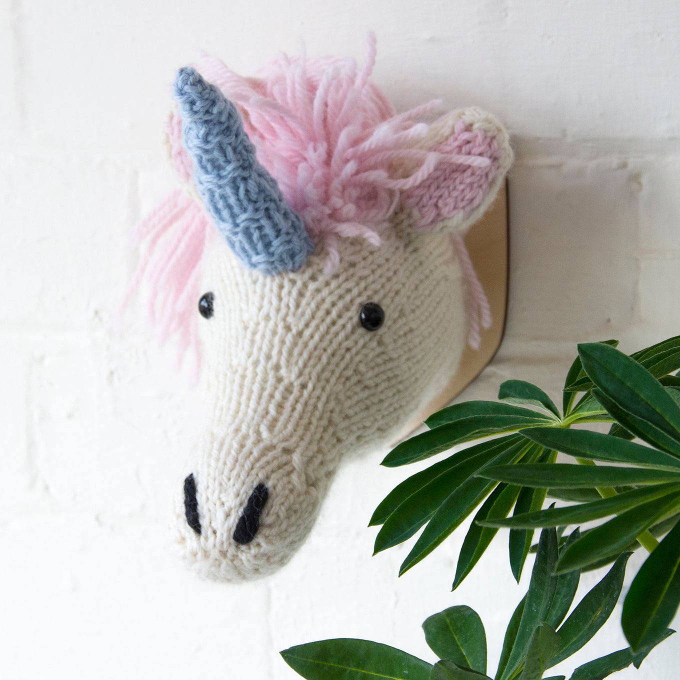 Mini Unicorn Head Knitting Kit