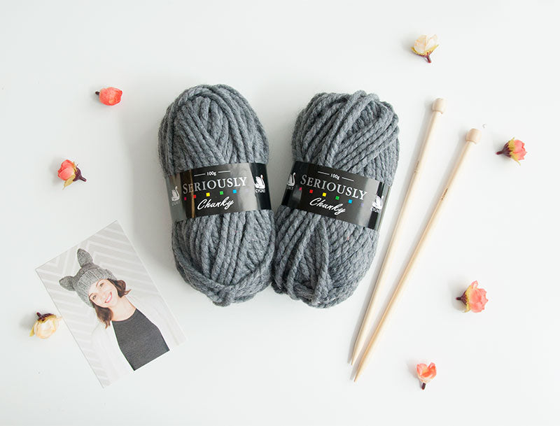 Cat Hat Knitting Kit