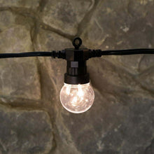 Load image into Gallery viewer, 10 Connectable Warm White Festoon Lights, Clear Bulbs, Black Cable 7.jpg