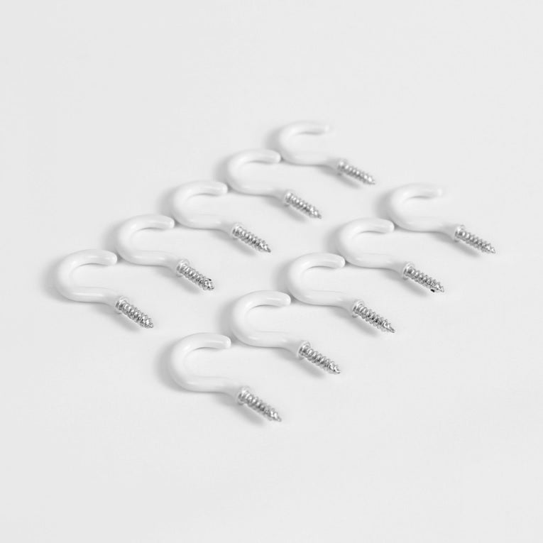 Outdoor White Cup Hooks for Walls and Ce