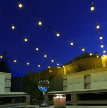 Load image into Gallery viewer, 10 Connectable Warm White Festoon Lights, Clear Bulbs, Black Cable 2.jpg