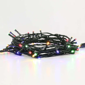 ConnectGo Outdoor LED Fairy Lights, Connectable, Dark Green Cable