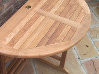 Round Gate-leg 1.2m Teak Garden Table