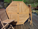 Octagonal Folding 1m Teak Garden Table