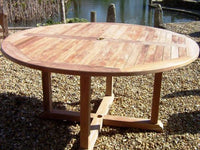 Round Pedestal 1.5m Teak Garden Table