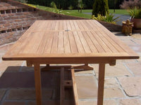 Rectangular Pedestal 1.6m Teak Garden Table