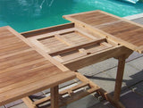 Square Extending 1.2m Teak Garden Table