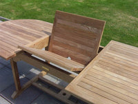 Oval Extending 1.8m Teak Garden Table