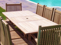 Rectangular Extending 1.8m Teak Garden Table