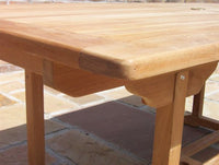 Rectangular Pedestal 1.9m Teak Garden Table
