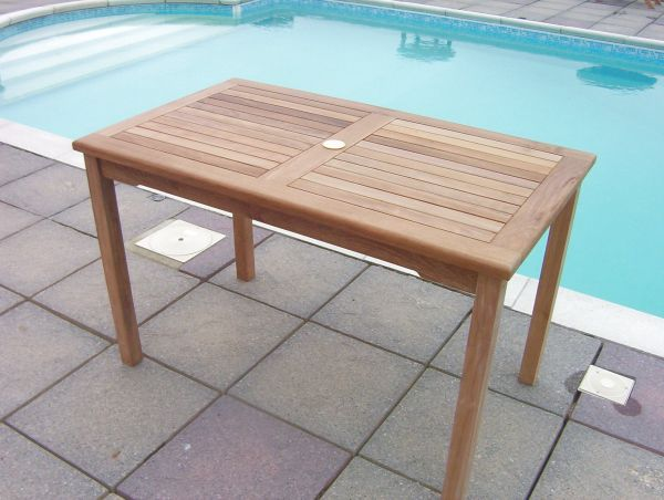 Rectangular Fixed 1.2m Teak Garden Table