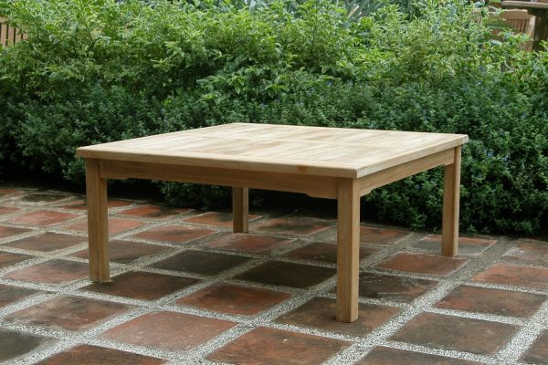 Square 1m Teak Garden Coffee Table