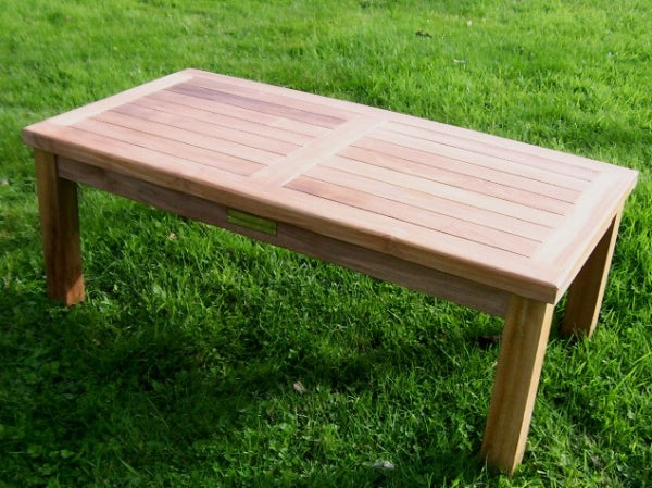 Rectangular 90cm Teak Garden Coffee Table