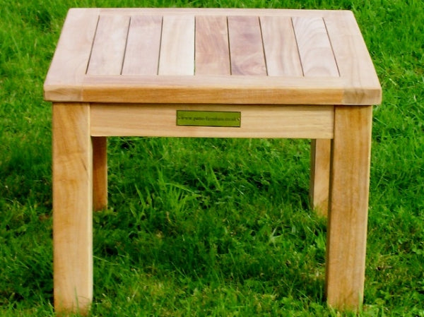 Square 45cm Teak Garden Coffee Table