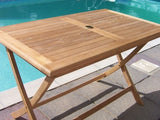 Rectangular Folding 1.2m Teak Garden Table