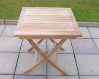 2 Seater 70cm Square Folding Teak Set with Folding Chairs