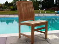 6 Seater 1.2m Square Extending Teak Set with Dining Chairs