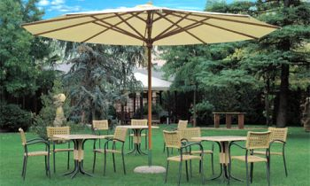 Commercial 5.0m Telescopic Parasol