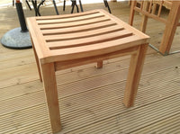 Teak Backless Stool