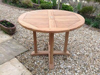 Round Pedestal 1m Teak Garden Table