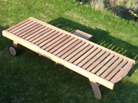 Eco-Teak 2 Seater Sunlounger and Coffee Table Set
