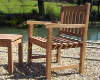 Teak Fixed Armchair