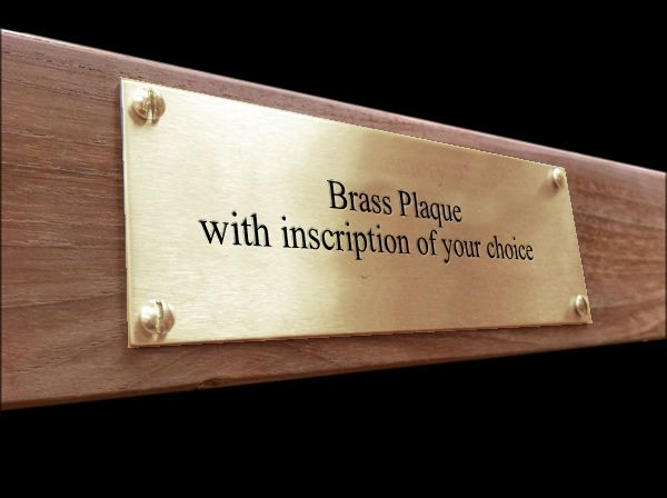 Brass Memorial Plaque