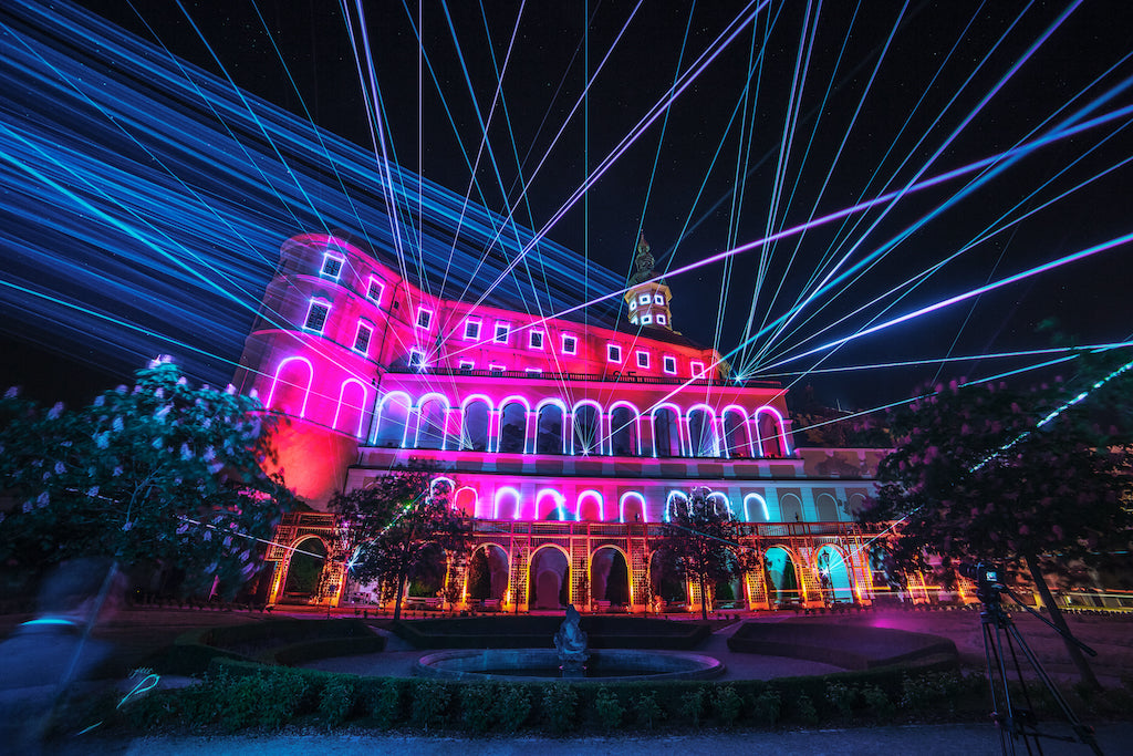 Laser mapping, laser beams and ambient lighting