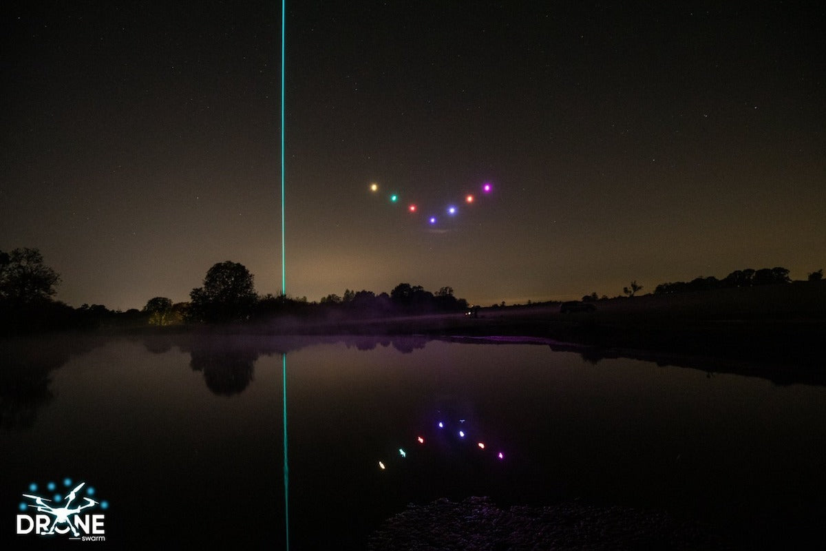 Kvant Architect Sky Laser showing off with drones in the UK_3