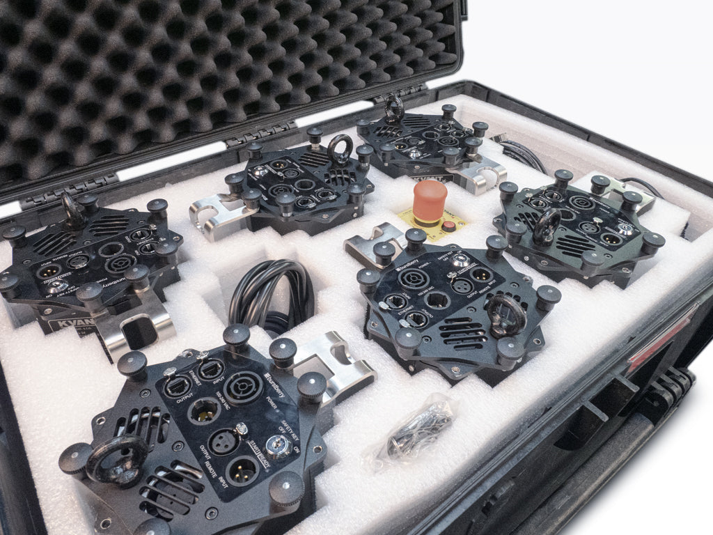 Burstberry flight case for 6 units detail