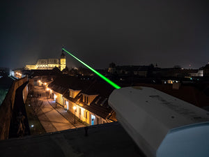 Logolas G10 OPSL green laser with beam expander
