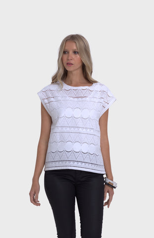 Broderie Anglaise Top - 2 COLOURS