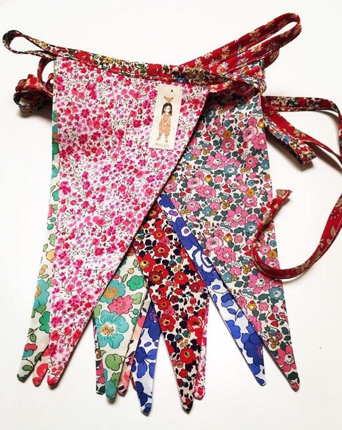 Liberty Mixed Fabric Bunting