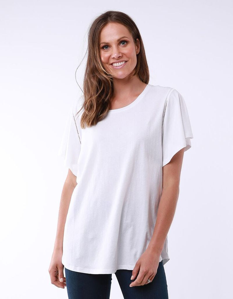 Lucy Flutter Tee- 2 colours