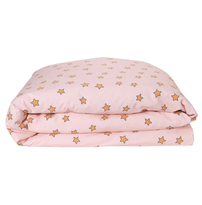 You're A Star Peach Cotton Quilt Cover (Single)